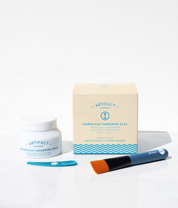 Moroccan Tangerine Clay Masque + Brush Kit