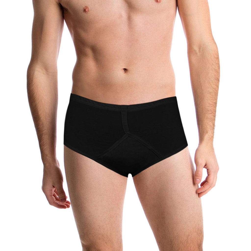 685dbb58832 Incontinence Washable Underwear for Men BLACK Y-Front Reusable Style ...