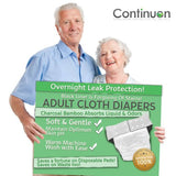 Adult Diapers for Urinary Incontinence (White)