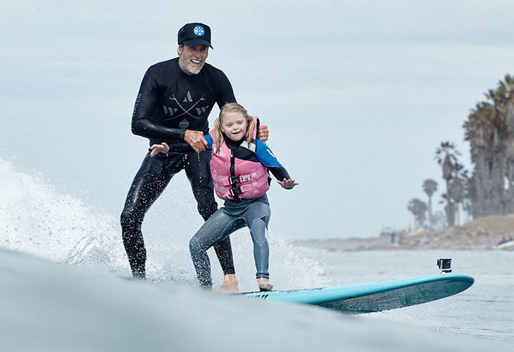girl and Lippman surfing