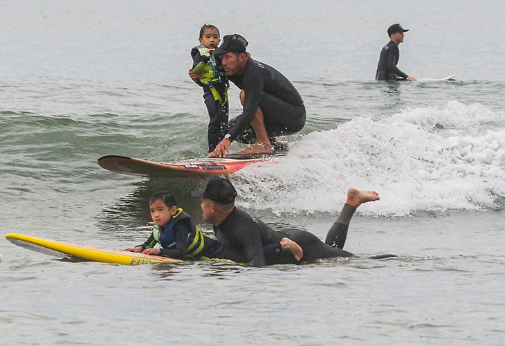 surfer and boy