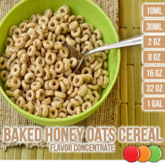Baked honey oats cereal flavor