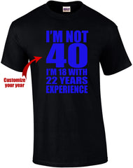 I'm not old tshirt template
