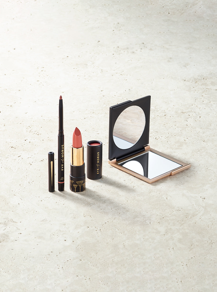 Lip Duo Pack: Egyptian Rose Liner + Aurora Peach Lipstick - Eye Of Horus AU