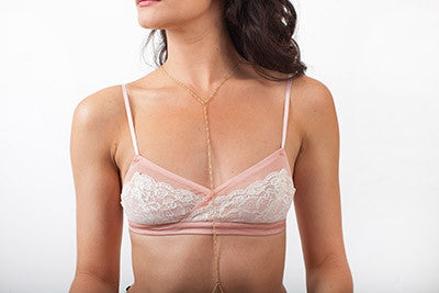 Night Vixon Bralette in Blush