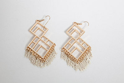 Geometric Swing Earrings