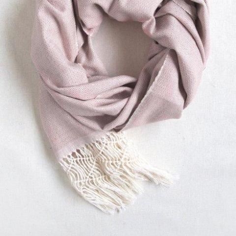 Dusty Pink Handwoven Scarf