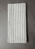 Linen Towel - Graphite Stripe
