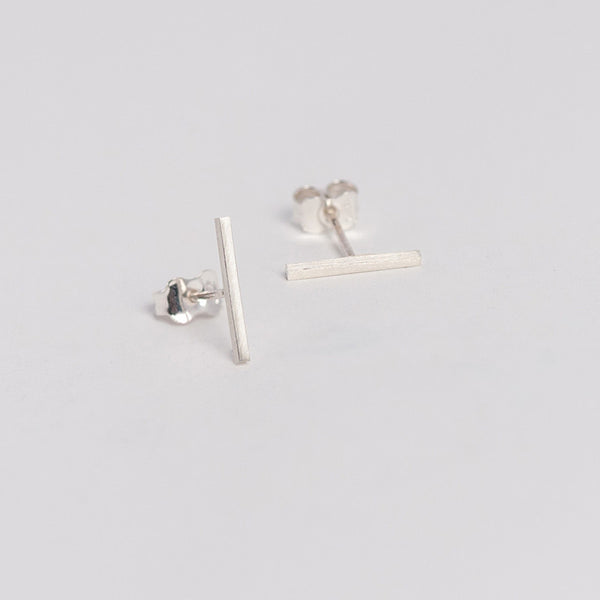 Baguette Silver Earrings