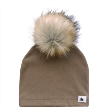 Chestnut Beanie with Pompom