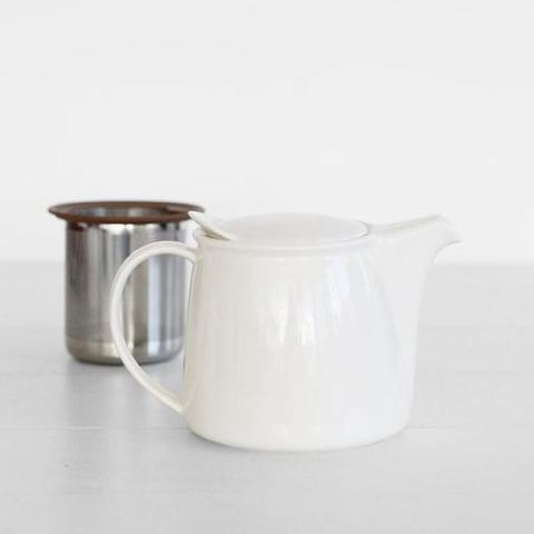 White Brim Tea Pot
