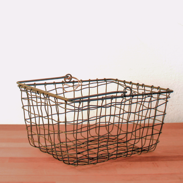 Grey Wire Market Basket