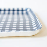 Linen Tray : Navy White Check