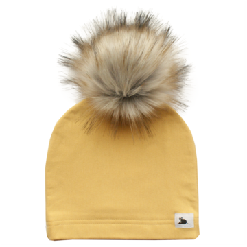 Honey Beanie with Pompom