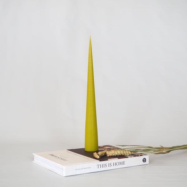 Conical Candle - Lime Green