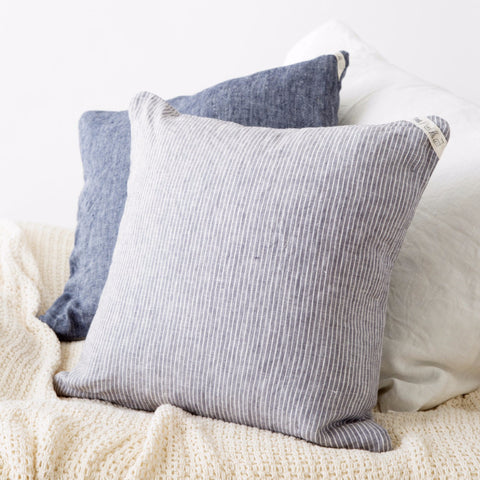 Cushion Cover - Grey White Stripe