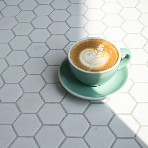 Teal Green Acme Latte Cup