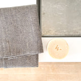 Linen Towel - Natural Charcoal