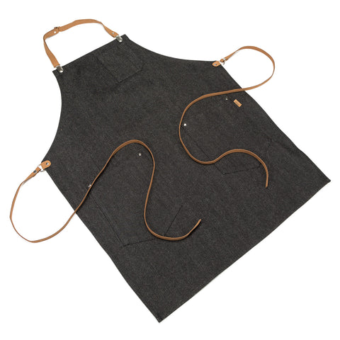 Japanese Denim Apron with Adjustable Leather strap