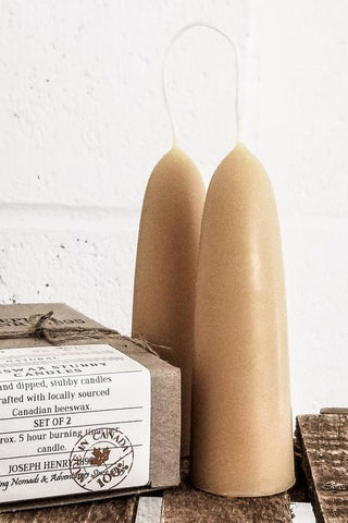 Beeswax Stubby Candles - Natural