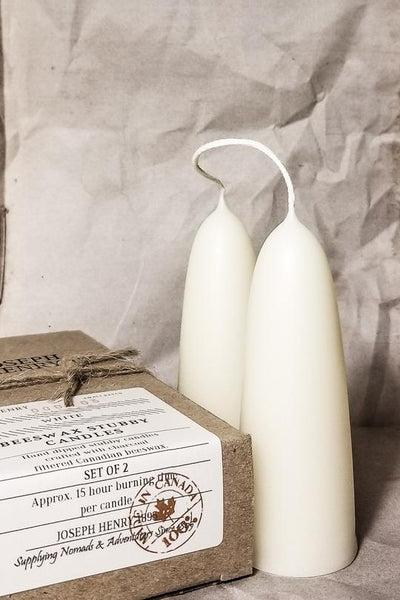 Beeswax Stubby Candles - White
