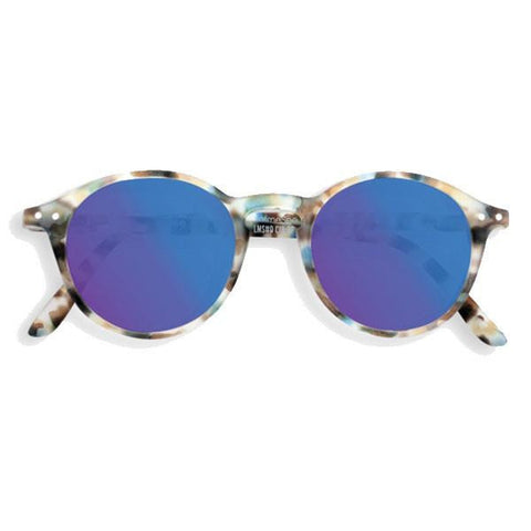 Sunglasses D - Mirrored Blue Tortoise