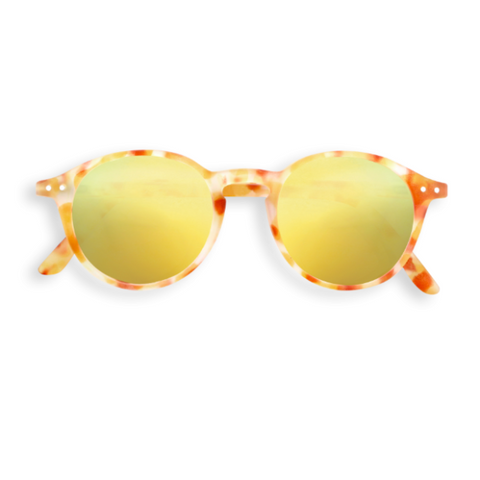 Sunglasses D - Mirrored  Yellow Tortoise