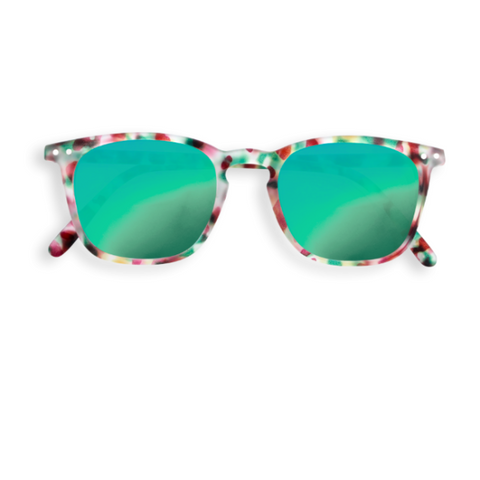 Sunglasses E - Mirrored Green Tortoise