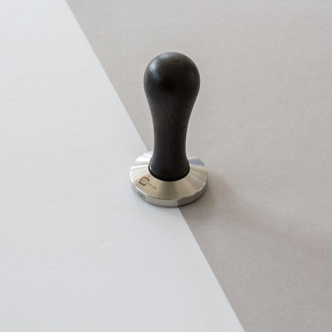 Coffee Tamper Black Beech Wood 53mm Convex