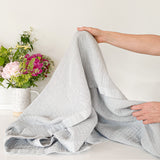 Mineral Blue Cotton Throw