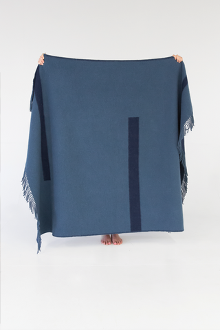 Truss Navy Throw