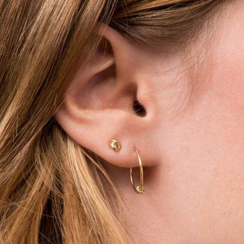 Prelude Gold Hoops Earrings