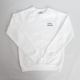 White Cool Beans Crewneck Special Edition