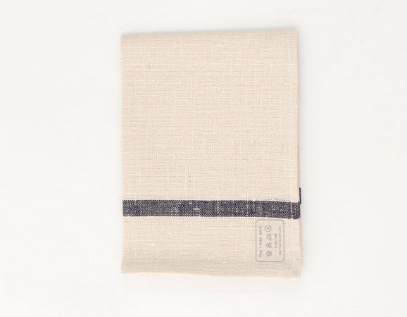 White French Lined Linen Cloth