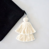 Large Tassel Pouch Black