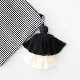 Large Tassel Pouch Striped