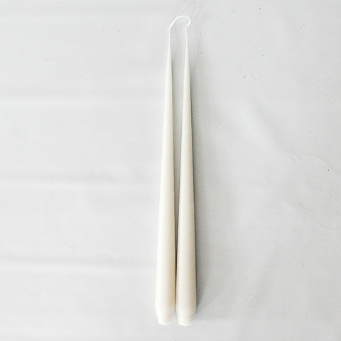 Oatmeal Taper Candle Duo