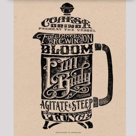 Silkscreen French Press Print