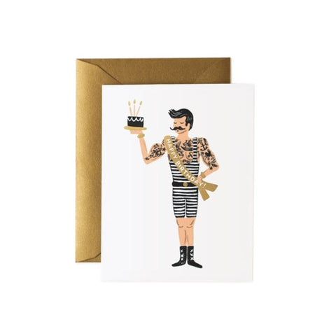 STRONGMAN BIRTHDAY CARD - Rifle Paper Co.