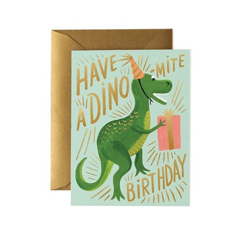 DINO-MITE BIRTHDAY CARD - Rifle Paper Co.