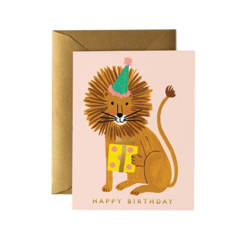 LION BIRTHDAY CARD - Rifle Paper Co.