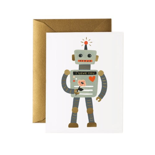 LOVE ROBOT CARD - Rifle Paper Co.
