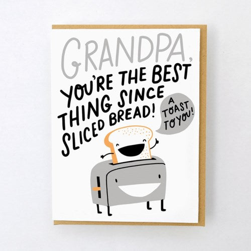 A TOAST TO GRANDPA Card - Egg Press