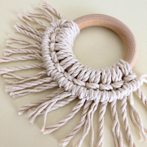 Wooden Macrame Teether