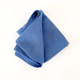 Linen Tea Towel - Periwinkle Blue