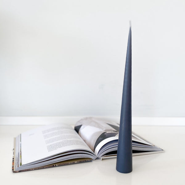 Conical Candle - Steel Grey