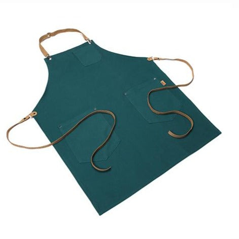 Sarcelle Apron with Adjustable Leather strap