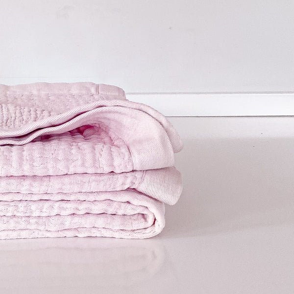 Dusty Pink Cotton Throw