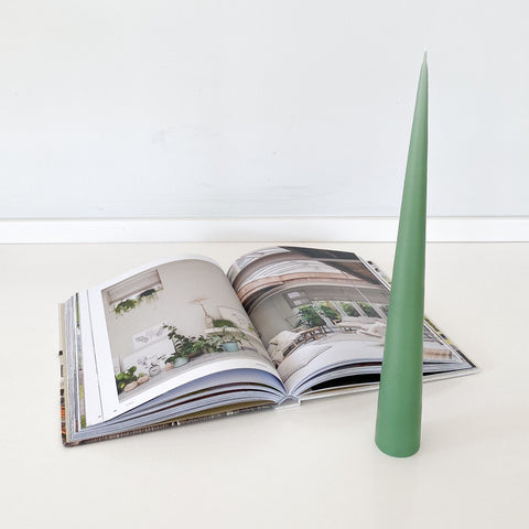 Conical Candle - Dust Green
