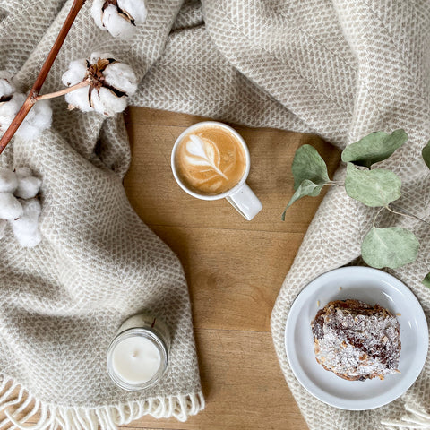 Beehive Oatmeal Throw